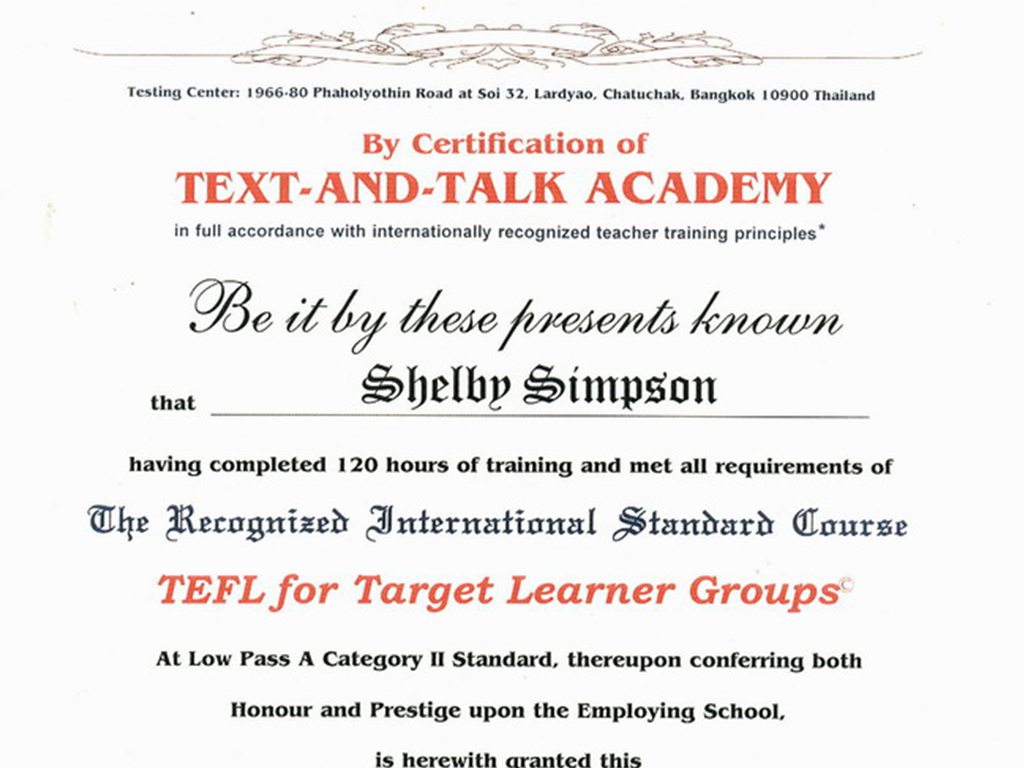 TEFL low pass A