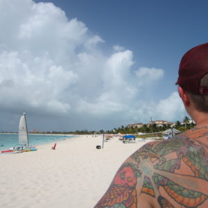 My man and the #1 beach in the world . . . so says Turks.